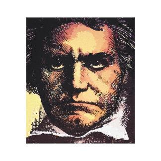 Portrait painting Ludwig Van Beethoven Canvas Print