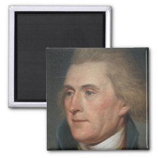 Portrait Painting of Thomas Jefferson 2 Inch Square Magnet