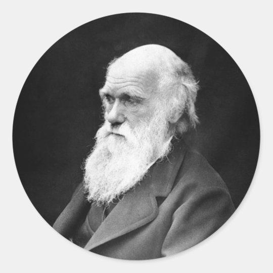 Portrait Photo of Charles Darwin Classic Round Sticker