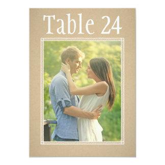 Portrait Photo Table Number Cards   Kraft Paper