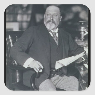 Portrait photograph of Edward VII (1841-1910) (b/w Square Sticker