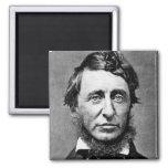 Portrait Photograph of Henry David Thoreau 2 Inch Square Magnet