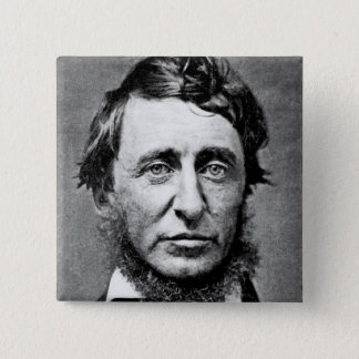 Portrait Photograph of Henry David Thoreau Button