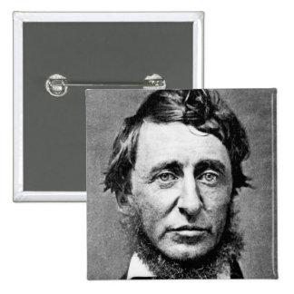 Portrait Photograph of Henry David Thoreau Button