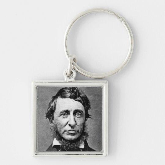 Portrait Photograph of Henry David Thoreau Keychain