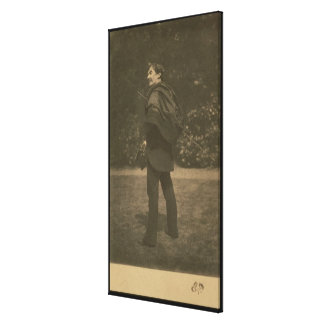 Portrait photograph of James Abbott McNeill Whistl Canvas Print