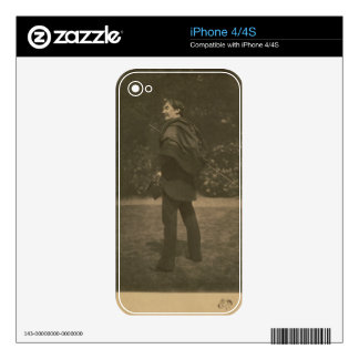 Portrait photograph of James Abbott McNeill Whistl Decal For iPhone 4