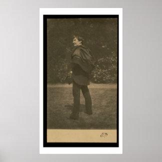 Portrait photograph of James Abbott McNeill Whistl Poster