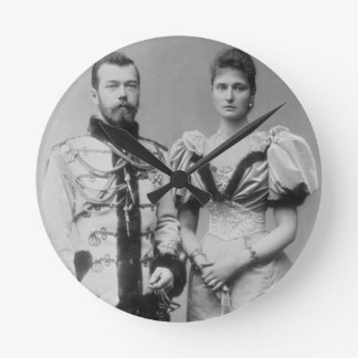 Portrait photograph of Tsar Nicholas II (1868-1918 Round Clock