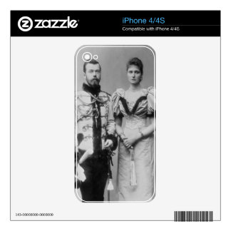 Portrait photograph of Tsar Nicholas II (1868-1918 Decal For The iPhone 4