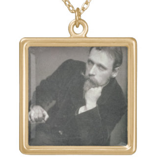 Portrait photograph of Walter Crane (1845-1915) by Gold Plated Necklace
