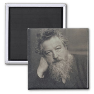 Portrait photograph of William Morris (1834-96) by 2 Inch Square Magnet