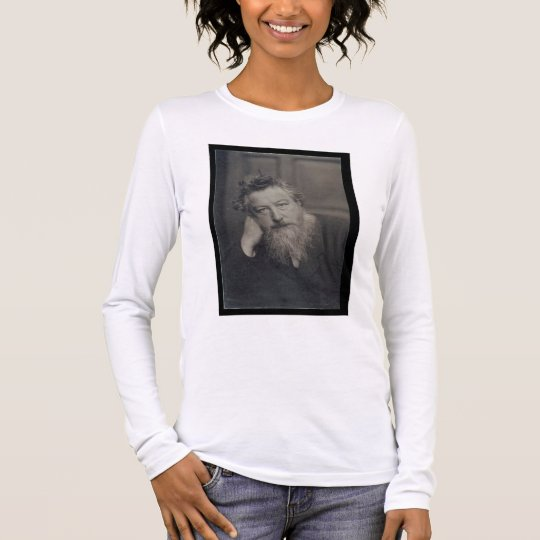 Portrait photograph of William Morris (1834-96) by Long Sleeve T-Shirt