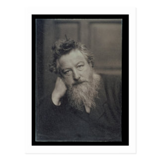 Portrait photograph of William Morris (1834-96) by Postcard