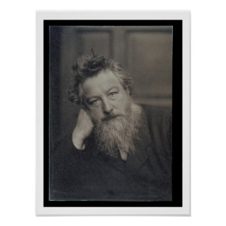 Portrait photograph of William Morris (1834-96) by Poster