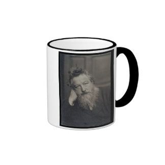 Portrait photograph of William Morris (1834-96) by Ringer Mug