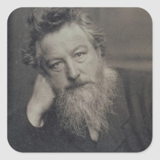 Portrait photograph of William Morris (1834-96) by Square Sticker