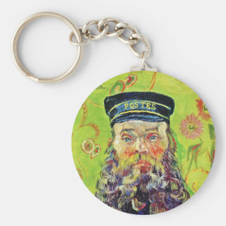 Portrait Postman Joseph Roulin Vincent van Gogh Basic Round Button Keychain