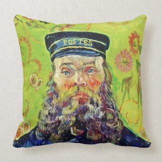 Portrait Postman Joseph Roulin Vincent van Gogh Pillows