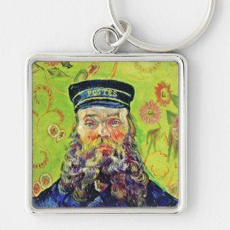Portrait Postman Joseph Roulin Vincent van Gogh Silver-Colored Square Keychain