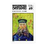 Portrait Postman Joseph Roulin Vincent van Gogh Stamp