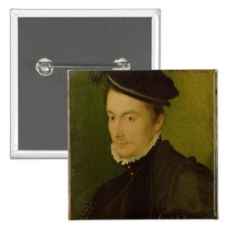 Portrait presumed Hercule-Francois de France Pinback Button
