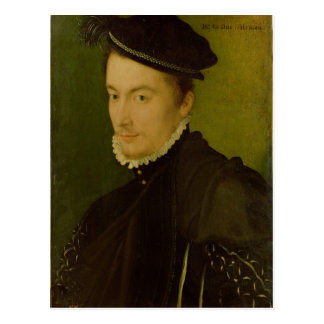 Portrait presumed Hercule-Francois de France Postcard