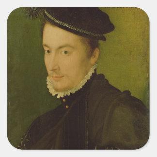 Portrait presumed Hercule-Francois de France Square Sticker