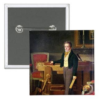 Portrait presumed to be Alfred de La Chaussee Pinback Button