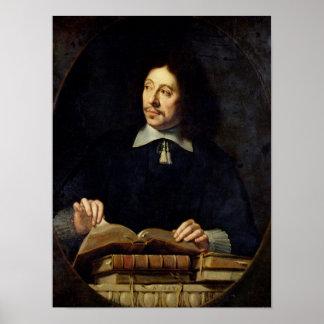 Portrait presumed to be Etienne Delafons, 1648 Poster