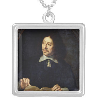 Portrait presumed to be Etienne Delafons, 1648 Silver Plated Necklace