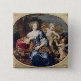 Portrait presumed to be Francoise-Athenais Pinback Button