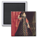 Portrait presumed to be Henrietta Maria of 2 Inch Square Magnet
