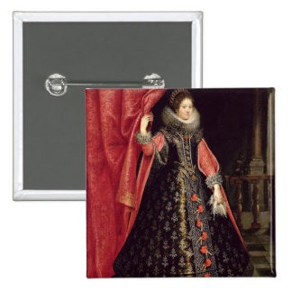 Portrait presumed to be Henrietta Maria of Pinback Button