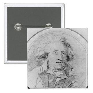 Portrait presumed to be Jean-Honore Fragonard Pinback Button