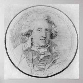 Portrait presumed to be Jean-Honore Fragonard Posters