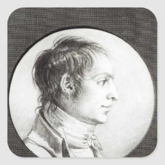 Portrait presumed to be Joseph Bonaparte Square Sticker