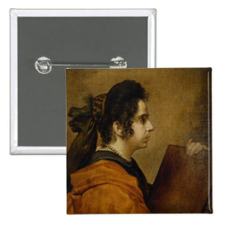 Portrait presumed to be Juana Pacheco as a Sibyl Button