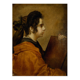 Portrait presumed to be Juana Pacheco as a Sibyl Postcard