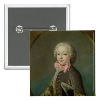 Portrait Presumed to be of the Duke of Tresme 2 Inch Square Button