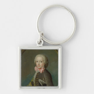 Portrait Presumed to be of the Duke of Tresme Silver-Colored Square Keychain