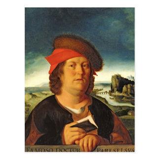Portrait presumed to be Paracelsus Postcard