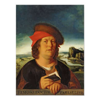 Portrait presumed to be Paracelsus Poster