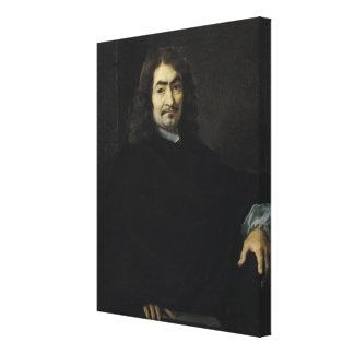 Portrait, presumed to be Rene Descartes Canvas Print