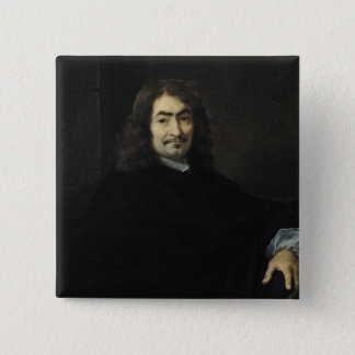 Portrait, presumed to be Rene Descartes Pinback Button