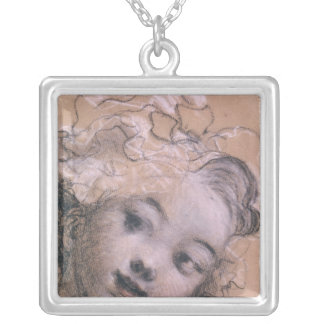 Portrait presumed to be Rosalie Silver Plated Necklace