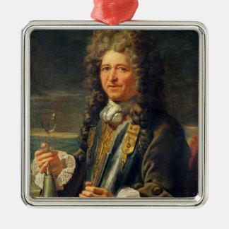 Portrait presumed to be Sebastien le Prestre Metal Ornament
