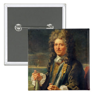 Portrait presumed to be Sebastien le Prestre Pinback Button
