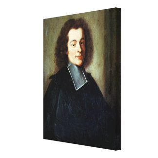 Portrait presumed to be Voltaire  as a young man Canvas Print