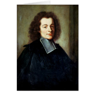 Portrait presumed to be Voltaire  as a young man Greeting Card
